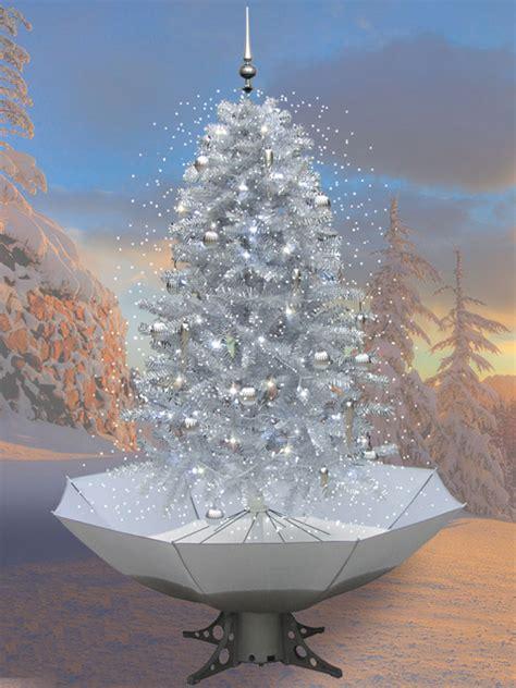 schneiender weihnachtsbaum 200cm schneefall tannenbaum