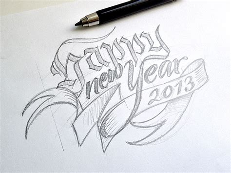 new year drawing image gallery new year s sketch drawing