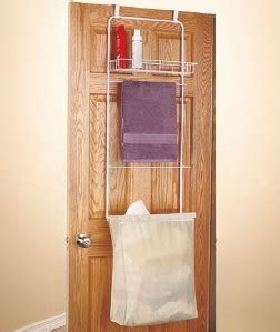 bathroom the door her towel bar storage organizer