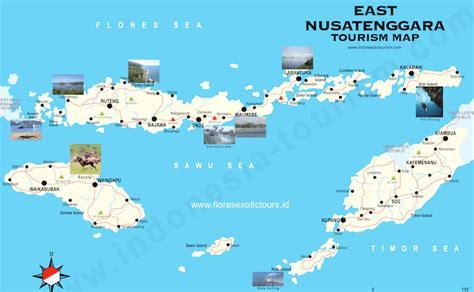flores indonesia tourist map