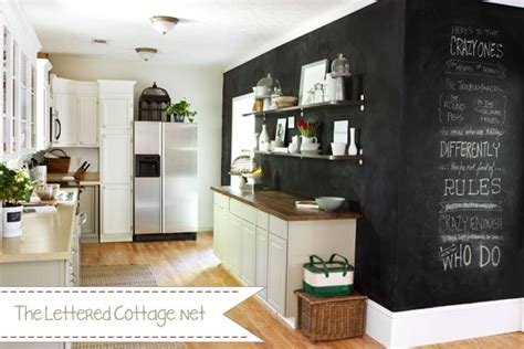 The Lettered Cottage Kitchen by 5 Ways To Use Chalkboard Paint Infarrantly Creative