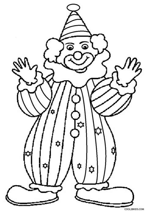 clown juggling coloring pages