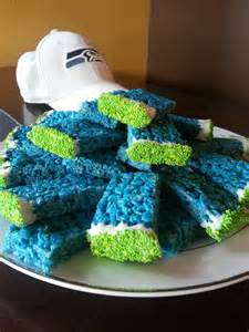 colored rice krispie treats seahawks colored rice krispy treats dipped in white