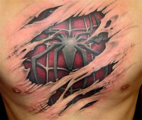 spiderman chest tattoo 45 best tattoos
