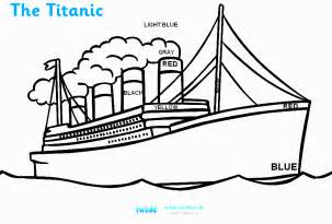 Ship Titanic Colouring Pages sketch template