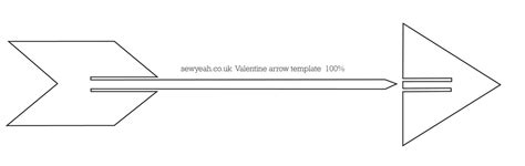 arrow template make paper arrow valentines day card sewyeah