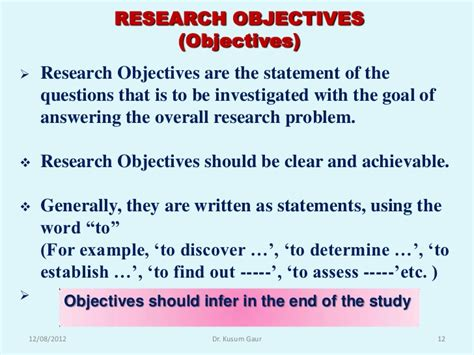 statement of objectives in research research methodology biostatistics