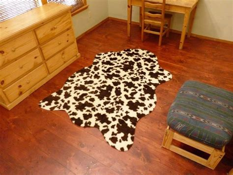 faux hide rugs faux brown and white cow hide rug 4 6 quot x 6 8 quot cowhide cow print cow rug