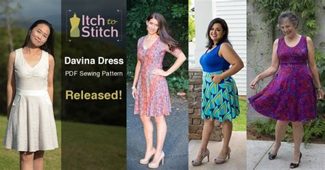 davina dress digital sewing pattern pdf itch to stitch davina dress pattern released and sale giveaway