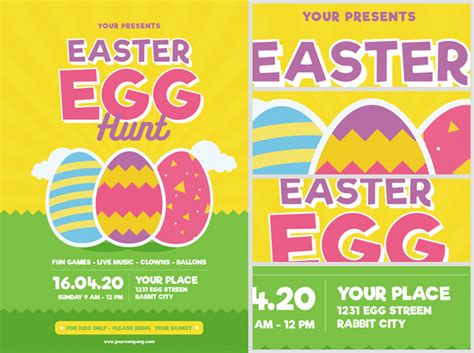 easter flyer template easter egg hunt flyer template v3 flyerheroes