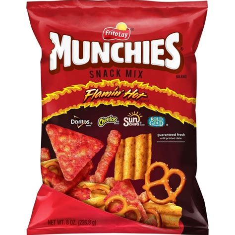 hot chips mix munchies flamin hot flavored snack mix 8oz target