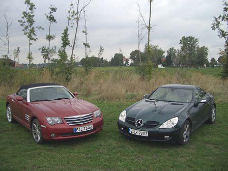 Mercedes And Chrysler by Bilder Vergleich Crossfire Vs Slk Bruderkf