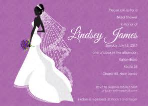 invitation for bridal shower templates purple bridal shower invitations template best template