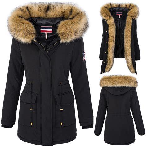 Wintermantel Damen Warm by Outdoor Damen Parka Winterjacke Damen Jacke Warm
