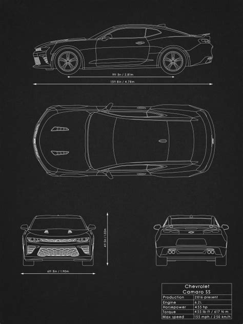 Supercars Blueprints by Rockstone | metal posters - Displate