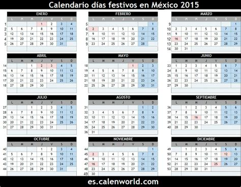 Calendario Festivo 2015 D 237 As Festivos En M 233 Xico 2015 D 237 As No Laborables En