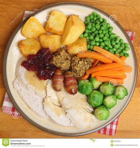 traditional dinner roast turkey dinner stock image image 33610521