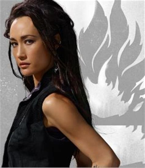 maggie q tattoo maggie q as wu aptitude test administrator dauntless