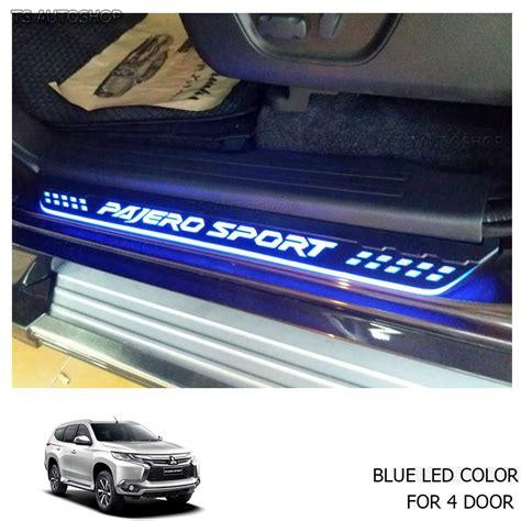 Sill Plate Sinf Pajero Sport 2016 Fitt mitsubishi pajero sports montero 2016 fitt blue led 4dr scuff plate sill cover ebay