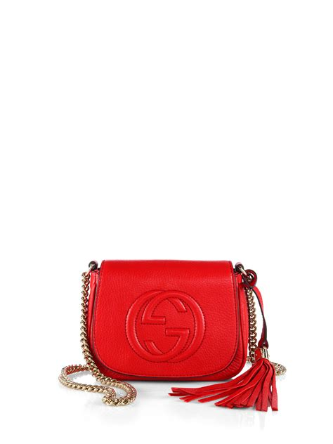 Gucci Crossbody 372180 Set 2 In 1 lyst gucci soho leather chain shoulder bag in