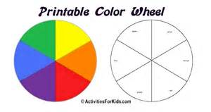 food wheel template printable color wheel primary secondary colors colours