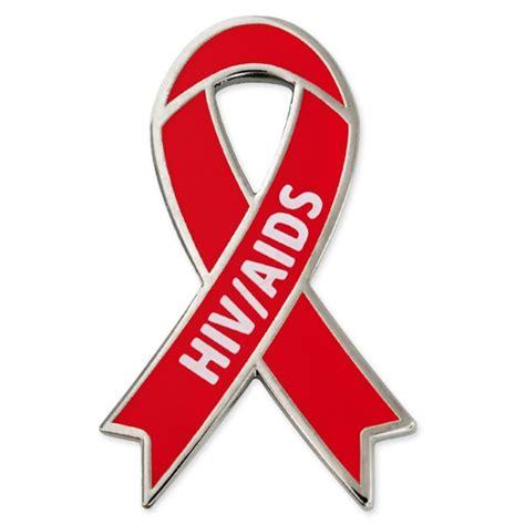 aids awareness color awareness ribbon pin hiv aids pinmart