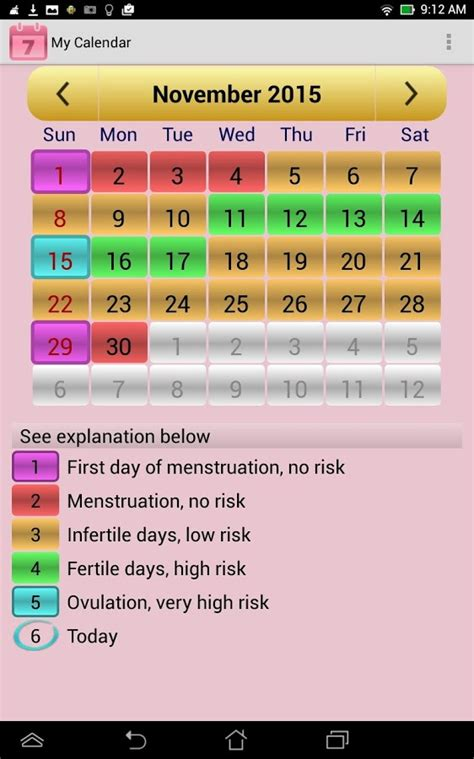 Ovulation Calendar App Menstrual Ovulation Calendar Android Apps On Play
