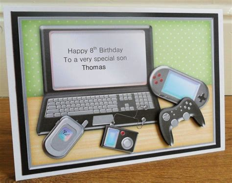 how to make birthday cards on the computer personalised handmade computer laptop gadgets birthday