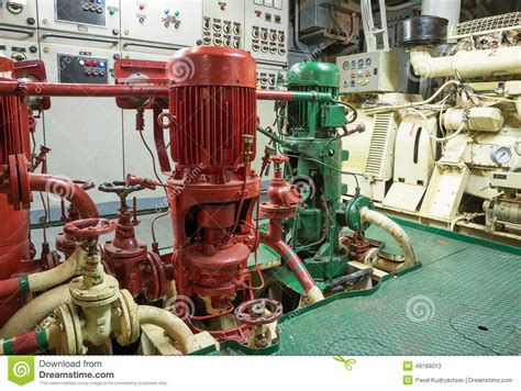Engine Room Suppression Systems by Part Of Sprinkler System Stock Photo Image 49189013