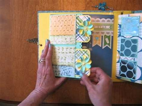 Handmade Scrapbooks - handmade scrapbook mini album 8x8 baby boy interactive