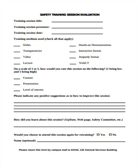 Mba Form Course by Sle Evaluation Form
