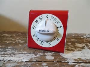 vintage kitchen timer westclox kitchen timer and white