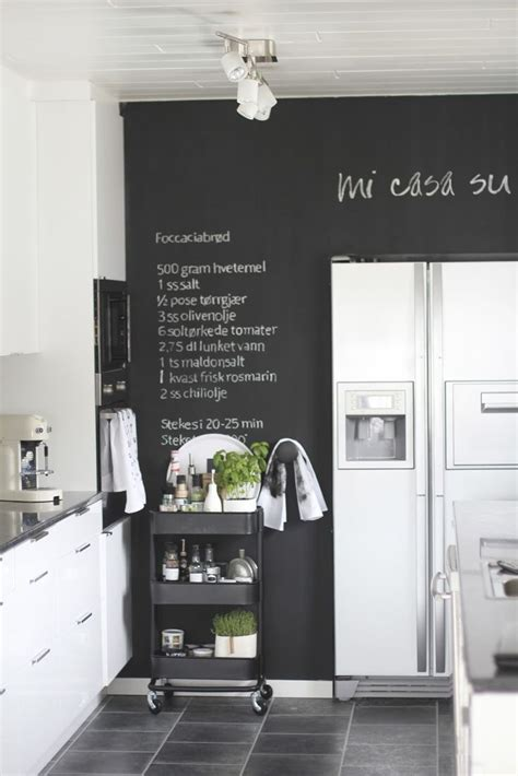chalkboard paint wall 25 black and white kitchens chalk wall paint walls and
