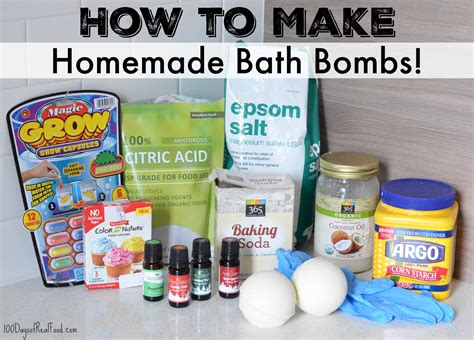 how to make how to make bath bombs 100 days of real food