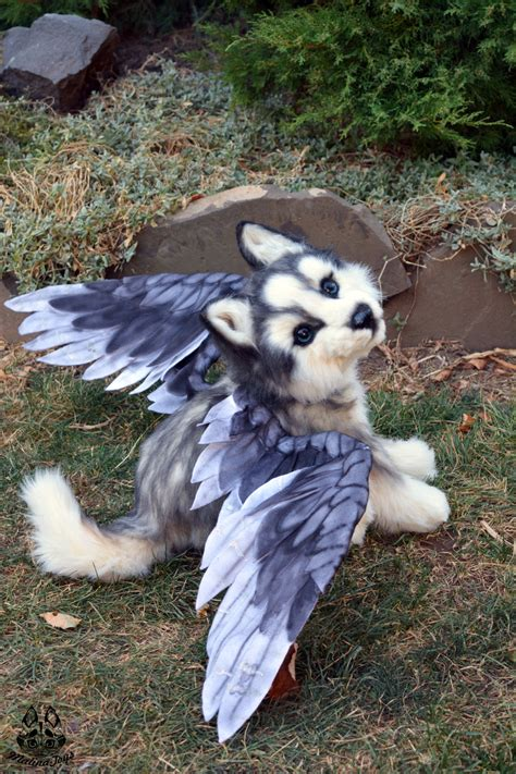 husky puppy toys poseable commission husky puppy with wings by malinatoys on deviantart