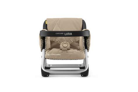 chaise haute de voyage chaise haute de voyage lima par concord 2017 powder beige