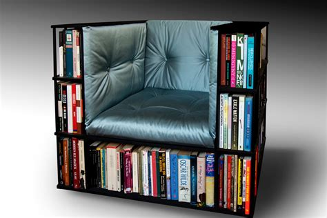 Bookshelf Chair by Luxury Club Library Bookcase Chair Made To Order