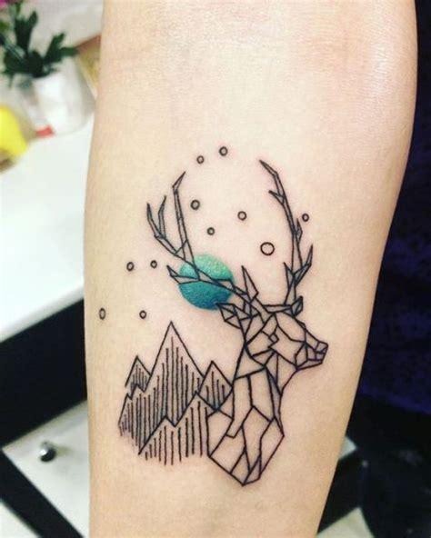 tattoo geometric deer 21 small deer tattoo ideas for girls styleoholic