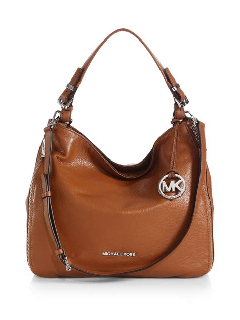 Michael Kors Mesh Hobo Purse by Michael Michael Kors Essex Hobo Bag In Brown Luggage Lyst