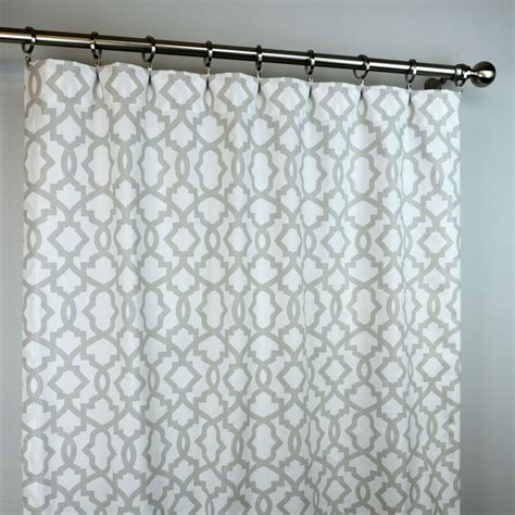 Grey Trellis Curtains Light Gray White Sheffiled Trellis Curtains Rod