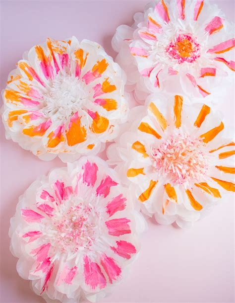 How To Make Tissue Paper Flowers Martha Stewart - how to paint tissue paper pom poms design improvised