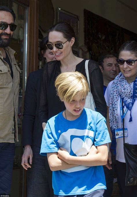 Starring Shiloh Pitt by Visits Syrian Refugees With