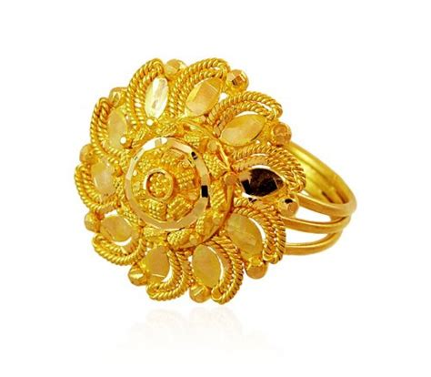 indian filigree ring 22k ajri59915 22k gold ring