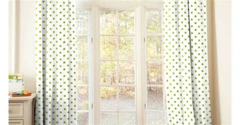 white curtains with green trim lime and white dots and stripes drapes with trim gender