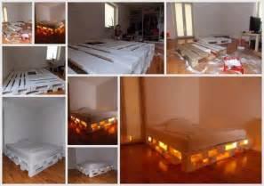 Lighted Bed Frame Lighted Pallet Bed Frame Great Ideas
