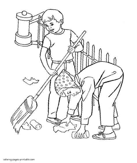 house cleaning coloring pages cleaning coloring pages coloring free download printable