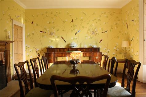 dining room wall murals chinoiserie hand painted wallpaper jess arthur mural