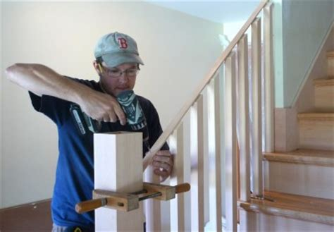 how to attach banister to wall building a housed newel thisiscarpentry