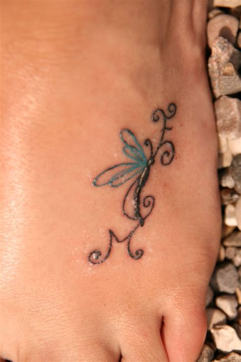 small dragonfly tattoo on foot 25 best dragonfly designs