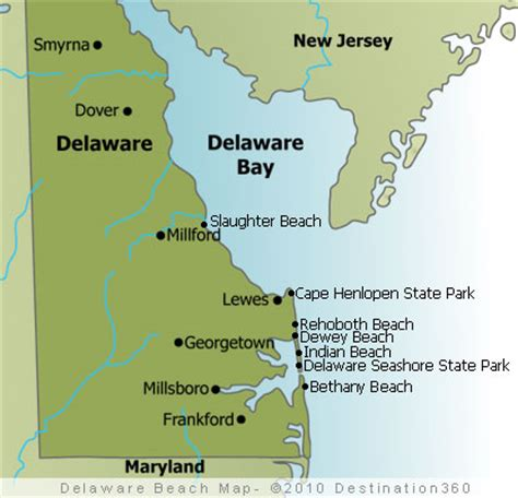 map maryland delaware beaches delaware state map map of delaware